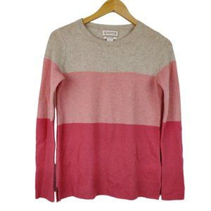 Nanette Lepore Pink Colorblock Cashmere Sweater